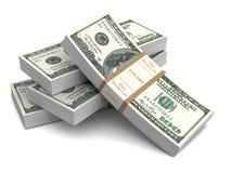 Money bills 3d illustration Royalty Free Stock Photos