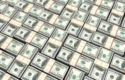 Money bills 3d illustration Royalty Free Stock Images