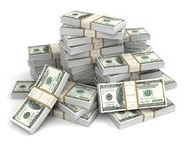 Money bills 3d illustration Royalty Free Stock Image