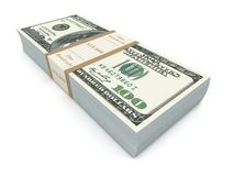 Money bills 3d illustration Royalty Free Stock Photos