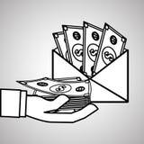 Money bills design, vector illustration, vector illustration Stock Image