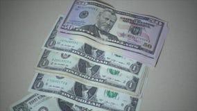 Money bills fall in super slow motion. Shot of Money bills fall in super slow motion stock video