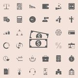 Money bills icon. Detailed set of Finance icons. Premium quality graphic design sign. One of the collection icons for websites, we. B design, mobile app on Royalty Free Stock Images