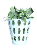 Money in the bin Royalty Free Stock Photography