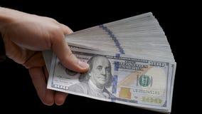 Money and Bitcoin, Btc on Dollar bills, Gold Coin, Fan of Money