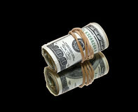 Money on black Royalty Free Stock Photos