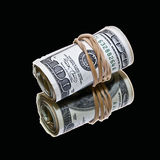 Money on black Royalty Free Stock Photo