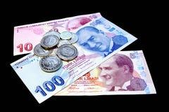 Money on black Stock Photos