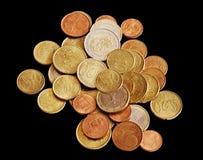 Money on black background. Stock Photos
