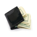Money in a black wallet Royalty Free Stock Images