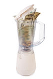Money in a blender Royalty Free Stock Images