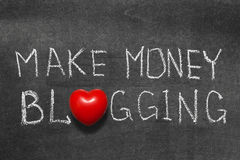 Money blogging Stock Photography