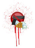 Money and blood gun illustration design Stock Photos