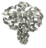 Money blow Royalty Free Stock Image