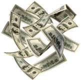 Money Blowing in the Wind Royalty Free Stock Photo
