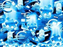 Money blue background Royalty Free Stock Images