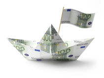 Money boat Stock Images