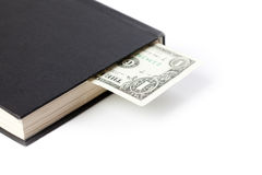 Money in book Royalty Free Stock Photography