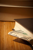 Money in the book Stock Photography