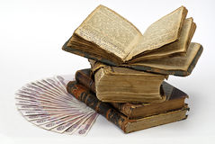 Money and books Royalty Free Stock Photo
