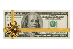 Money and bow Stock Photo