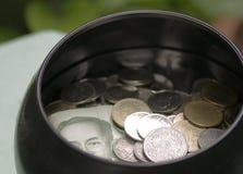 Money in bowl Royalty Free Stock Photos