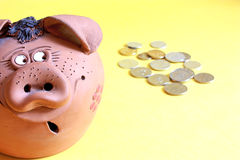 Money-box. Background possible to use for printing and project Royalty Free Stock Photos