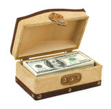 Money in box Stock Images