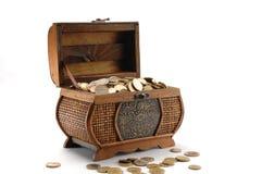 Money box. On white background Royalty Free Stock Photos