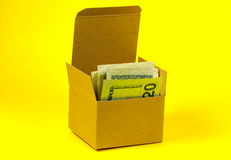 Money Box. Box With Money royalty free stock photos