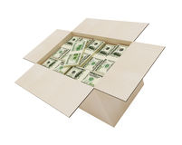 Money in a box Royalty Free Stock Photo