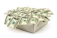 Money in box Royalty Free Stock Images