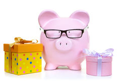 Money-box and fancy boxs Stock Photo