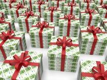 Money box gifts - 100 euros Stock Photography
