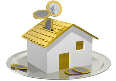 Money box house Royalty Free Stock Photos