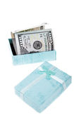 Money in box Royalty Free Stock Image