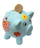 Money-box pig. On white background Royalty Free Stock Images