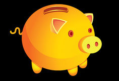 A-money-box-is-a-pig Stock Photos