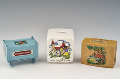 Money box and piggybank Stock Photo