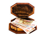 Money in a box Stock Image