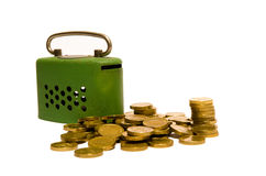 Money box with savings Stock Image