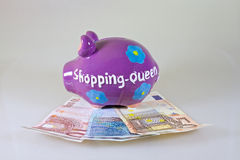 Money Box for Shopping Queen Royalty Free Stock Images