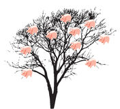 Money box tree illustration Stock Image