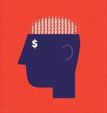 Money Brain Royalty Free Stock Images