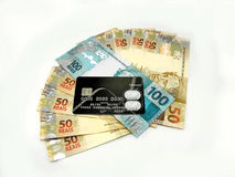Money from Brazil. New currency design royalty free stock photo