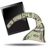 Money Breaks out Royalty Free Stock Photo