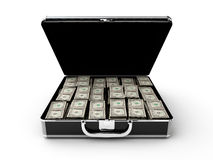 Money briefcase Royalty Free Stock Photo