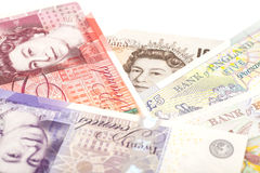 Money british pounds sterling gbp. Isolated royalty free stock image