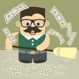 Money broom Stock Image