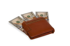 Money in brown Stock Photo